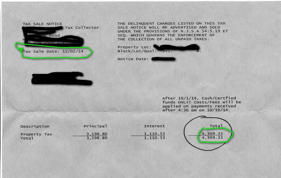 Delinquent Property Tax Notice