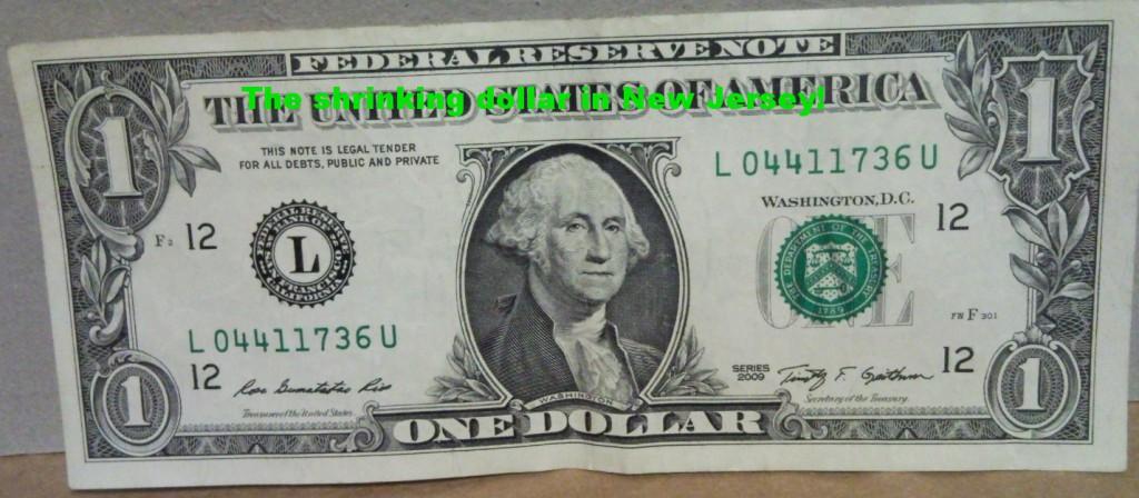 The New Jersey Shrinking Dollar.