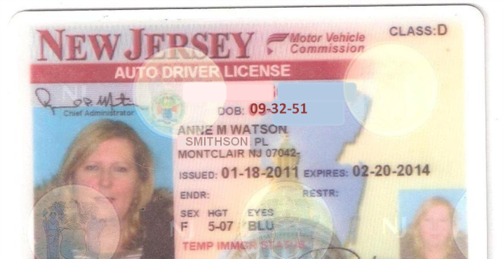NJ Drivers license