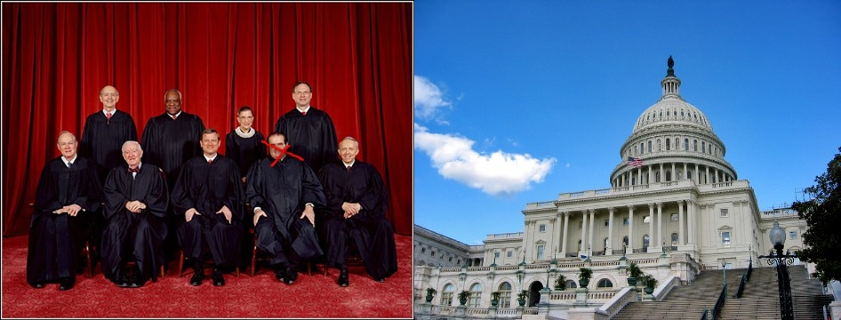 US Supreme Court minus Scalia