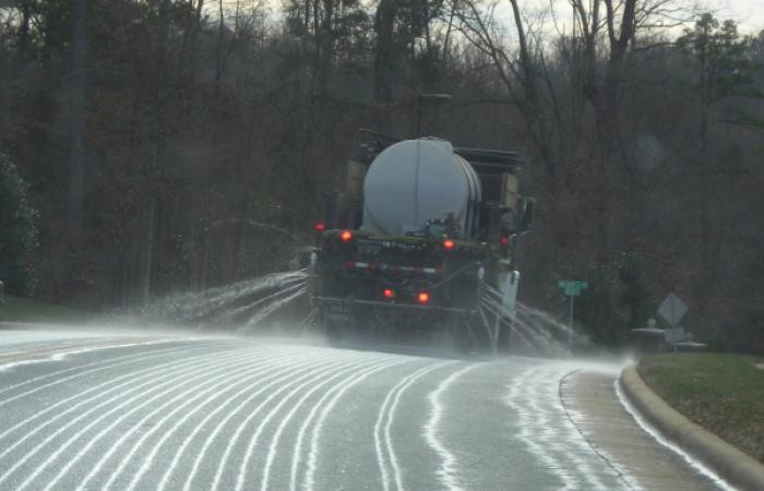 Roadway brining
