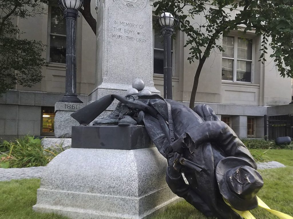 Statue toppling